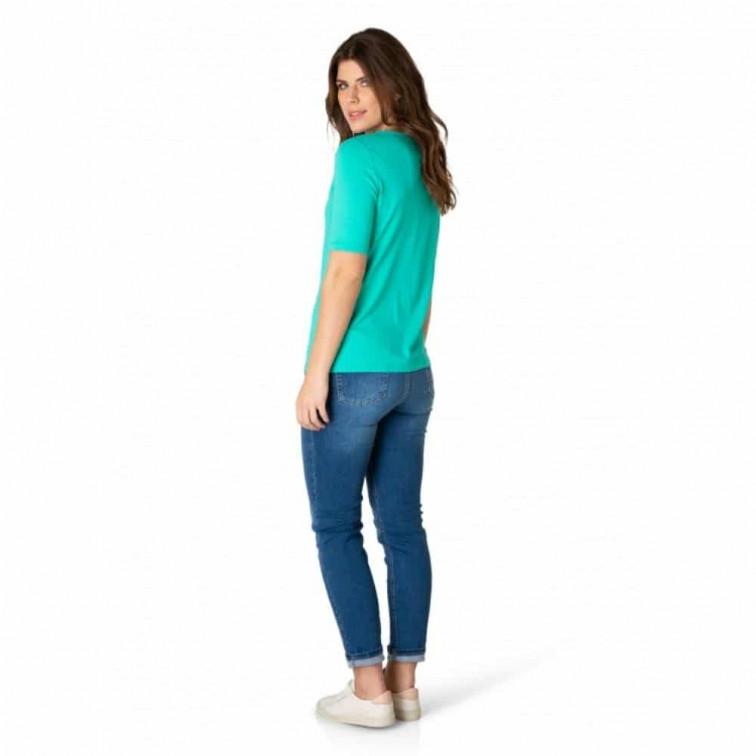 groen v hals tshirt