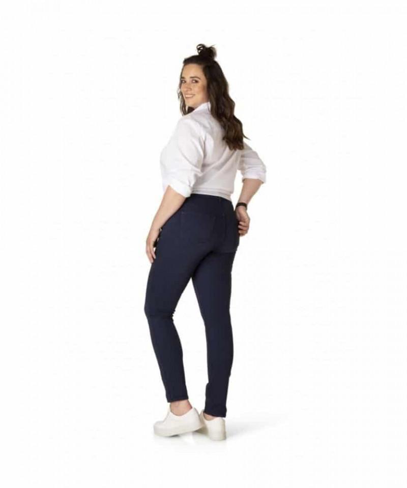 Blauwe spijkerbroek dames_