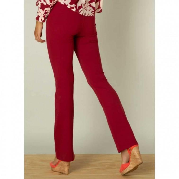 flared broek rood