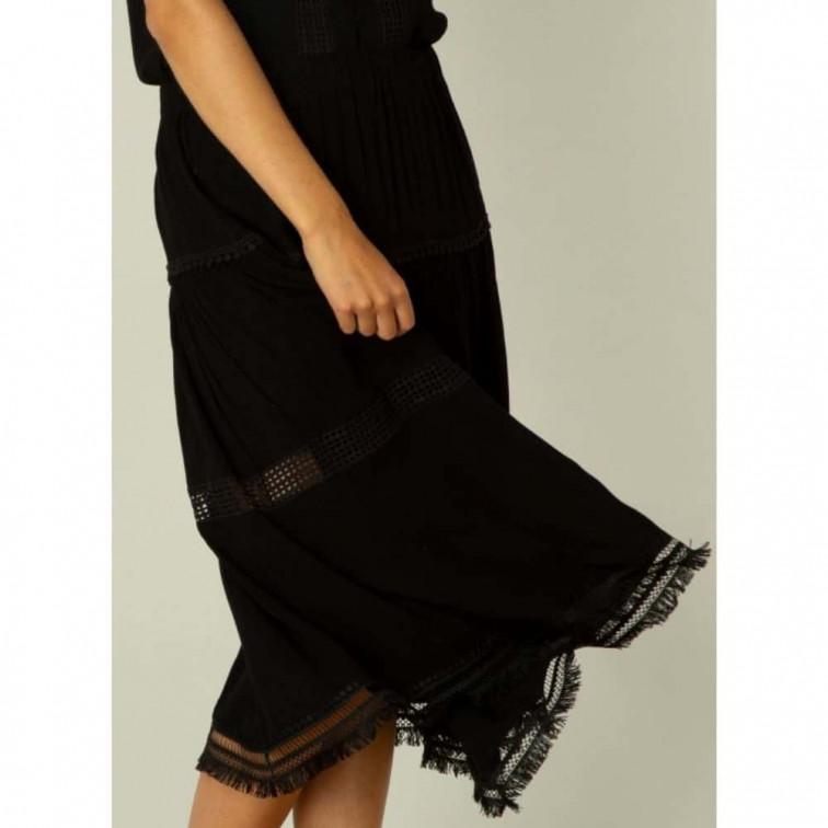 lange zwarte rok
