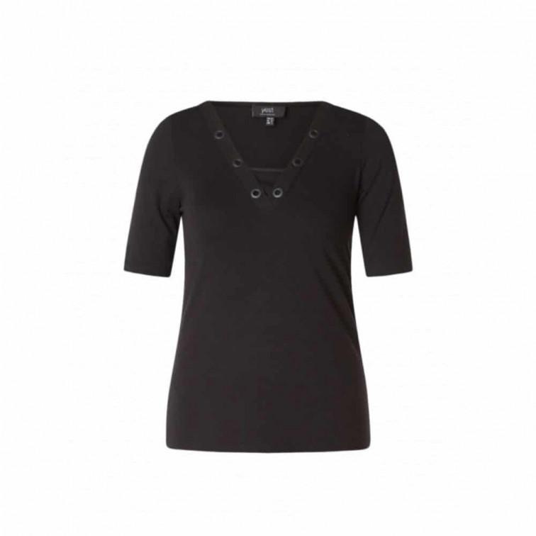 Zwart shirt v hals dames - Yest 1
