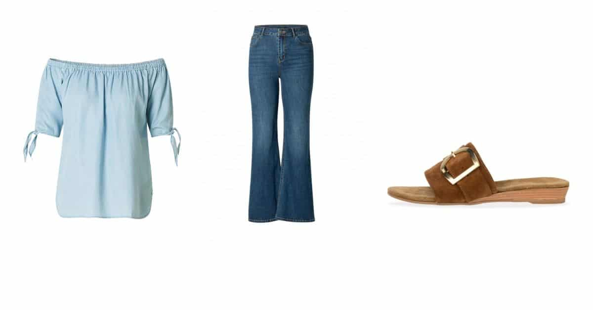 flared jeans look 3