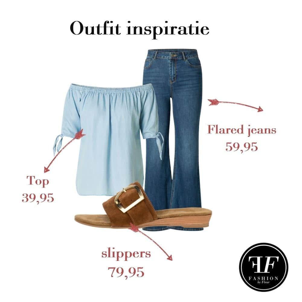 flared jeans look 1
