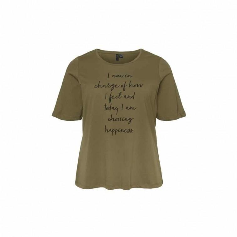 groen t shirt dames korte mouw