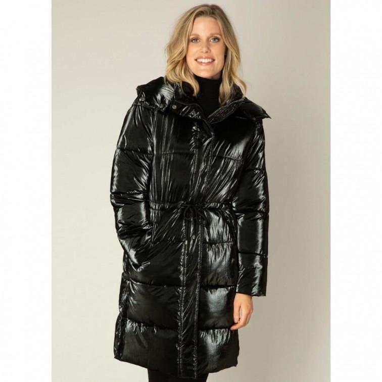 lange zwarte winterjas