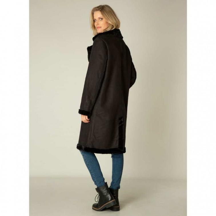 Lange zwarte winterjas dames - Yest Winter Outerwear 2