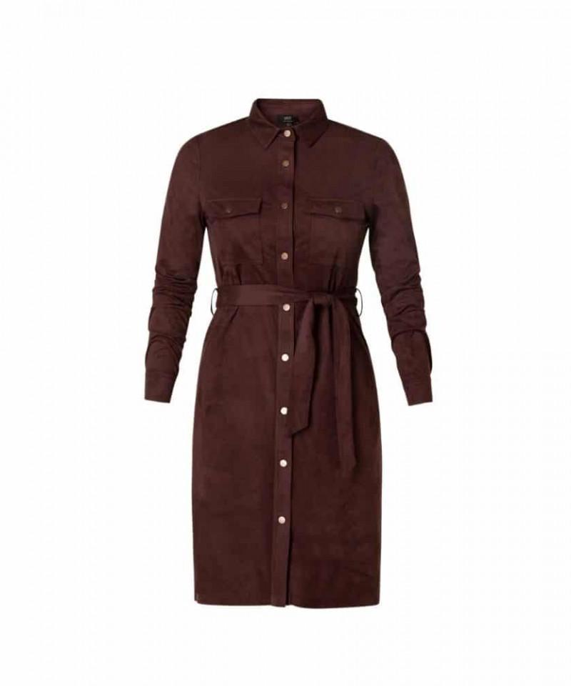 wijnrode jurk