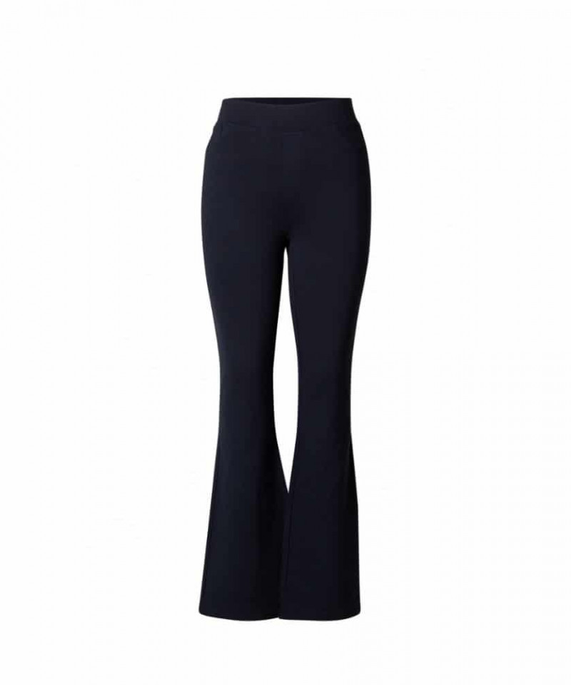 blauwe flared broek