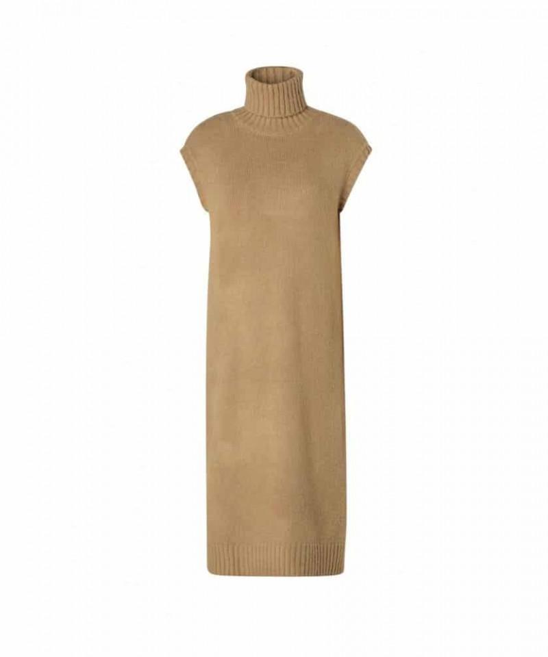 gebreide jurk met col