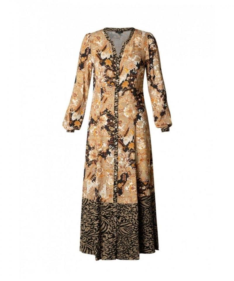 maxi jurk lange mouwen